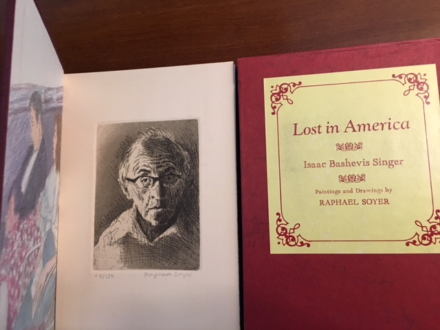 LOST IN AMERICA. Paintings and Drawings by Raphael Soyer. Isaac Bashevis Singer.